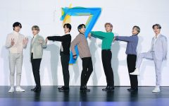Editorial use only. HANDOUT /NO SALES Mandatory Credit: Photo by HANDOUT/EPA-EFE/Shutterstock (10565522a) A handout photo made available by the Big Hit Entertainment shows the members of the South Korean boy band 'Bangtan Boys, BTS' posing for photos prior to a press conference to promote their fourth album 'Map of the Soul 7' in Seoul, South Korea, 24 February 2020. K-Pop boy band Bangtan Boys BTS in Seoul, Korea - 24 Feb 2020