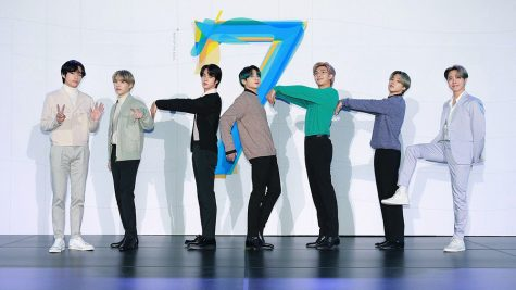 Editorial use only. HANDOUT /NO SALES Mandatory Credit: Photo by HANDOUT/EPA-EFE/Shutterstock (10565522a) A handout photo made available by the Big Hit Entertainment shows the members of the South Korean boy band